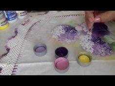Aprenda a pintar hortências em tecido. - YouTube