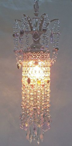 Petite Jeweled Prink Crystal Tiered Chandelier by sheriscrystals, $229.95