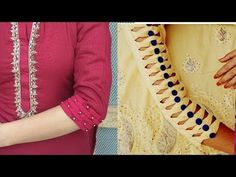 Kataria sisters Hello everyone today I will show you how to make beautiful sleeves designs . In this video I showed two types of sleeves designs . Kurti Sleeves Design, Sleeves Designs For Dresses, Kurti Neck Designs, Dress Neck Designs, Blouse Designs, Dresses With Sleeves, Sleeve Designs For Kurtis, Abaya Designs, Summer Design