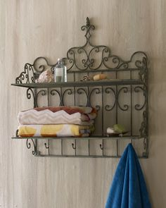 Towel Shelf at Horchow. Think of all the options other than towel shelf: kitchen with small plates and cups, outdoor potting area storage, back door catch-all for dog leashes, collars etc (my personal favorite idea)...so versatile. #Horchow