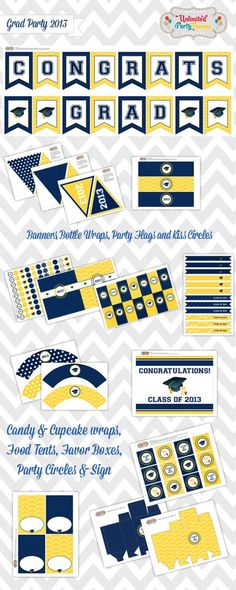 Free 2013 Graduation party printables! #graduation #partyprintables