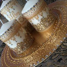 All gold candles set thaal wedding mehndi occasion gift plate, All gold candles set thaal wedding mehndi occasion gift plate All gold candles set thaal wedding mehndi by Mehandibytasha All gold candles set thaal w. Henna Candles, Gold Candles, Small Candles, Diy Candles, Fancy Candles, Christmas Candle Decorations, Diwali Decorations, Wedding Decorations, Mehndi Decor