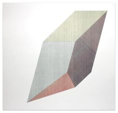 Sol Lewitt - Form Derived From a Cube with Lines In Four Directions & Four Colors, 1984