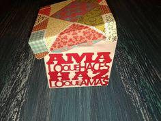 Caja en Decoupage Visitame en Facebook/Aymara