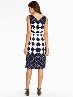 Talbots - Geo-Clover Jacquard Dress | | Misses Discover your new look at Talbots. Shop our Geo-Clover Jacquard Dress for stylish clothing and accessories with a modern twist at Talbots