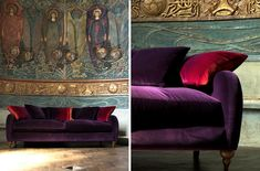 Beautiful British Handmade Velvet Sofas