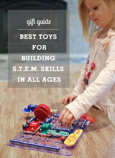 Best toys for building STEM (science, technology, engineering & math) skills - love the detailed descriptions and range of ages covered here.