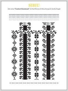 Semne Cusute: model de camasa din TRANSILVANIA, Sibiu Folk Embroidery, Learn Embroidery, Cross Stitch Embroidery, Embroidery Patterns, Cross Stitch Borders, Cross Stitch Patterns, Sewing Stitches, Embroidery Techniques, Beading Patterns