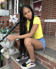 Lemonade Medium Box Braids Hairstyles To Try In African Style - Fashionuki Box Braids Hairstyles, Black Girl Braided Hairstyles, Black Girl Braids, Braids For Black Hair, Girls Braids, Black Women Hairstyles, Cute Hairstyles, Cornrolls Hairstyles Braids, Quick Braided Hairstyles