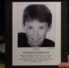 And this is also Redmayne, back when he did a very real childhood headshot.   Eddie Redmayne's Childhood Headshot Proves He Hasn't Changed At All