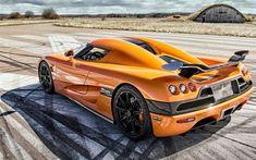 Télécharger fonds d'écran La Koenigsegg CCXR, 4k, hypercars, orange CCXR, supercars, la Koenigsegg