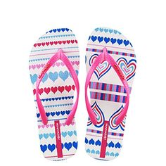 d40979245 Hotmarzz Women s Summer Flip Flops Heart Love Slippers Fashion Slides Beach  Shoes Size 2 UK