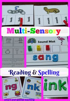 These dyslexia activities are hands-on along with great no prep reading activities and spelling activities in one handy bundle at a great savings for your beginning readers or struggling readers Dyslexia Activities, Dyslexia Teaching, Spelling Activities, Vocabulary Games, Teaching Activities, Hands On Activities, Spelling Help, Phonics For Kids, Special Education Classroom