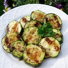 "Balsamic Grilled Zucchini | ""Ridiculously delicious and simple. I throw everything in a zip-lock bag and marinate while I prep the rest of dinner before putting these on the grill."""