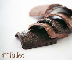 Lenôtre - Tuiles chocolat lait et chocolat noir www.lenotre.com