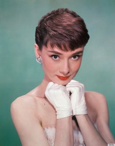Timeless Audrey... Plus the background color and the gloves represent the scheme I'm going for