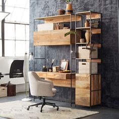 "Industrial Modular 17"" Open + Closed Storage 