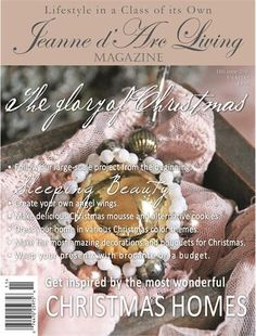 Jeanne d'Arc Living Magazine 11th edition 2016 U.S. Shipping included Christmas Themes, Christmas Bulbs, Holiday Decor, Christmas Glitter, Vintage Country, Country Chic, Jeanne D'arc Living, Living Magazine, Wonderful Recipe