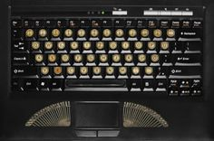 Vintage typewriter stickers for your keyboard.