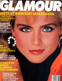 Kim Alexis covers Glamour Magazine (US) June 1985