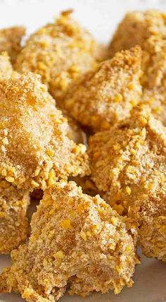 Corn Flake Crumb Baked Cauliflower Bites - great side dish or appetizer when served with a dip What Is Cauliflower, Baked Cauliflower Bites, Cauliflower Recipes, Cornflake Recipes, Corn Flake Crumbs, Best Sugar Cookies, Corn Flakes, Tasty, Yummy Food