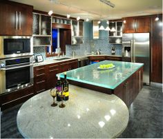 Explore the Pros and Cons of Glass Countertops  - For More Go To  >>>>>>  http://interiordesign4.com/explore-the-pros-and-cons-of-glass-countertops/   - Among various kitchen countertop ideas, glass is one of the most lovable one these days and if you are wondering that why one should opt for glass countertops? Indeed, glass countertops are the latest trend in high-end kitchen decor. In this article we offer you the glass countertops pros and...