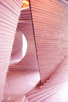 Image 10 of 15 from gallery of Turning Pink / Leong Leong Architecture. Courtesy of Leong Leong Architecture Amazing Architecture, Interior Architecture, Interior And Exterior, Installation Architecture, Building Architecture, Paper Architecture, Bamboo Architecture, Fuchsia, Pastel Pink
