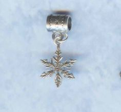 Sterling Silver Snowflake Lrg Hole Bead Fits Pandora and other Styles of  Add a Bead Charm Bracelet Jewelry AAB-G2018. $4.99, via Etsy.