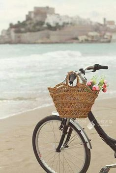 Biking by the beach
