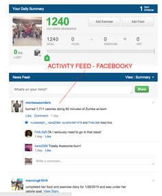 Incentives. Like showing activities as a newsfeed - like Facebook or MyFitnessPal