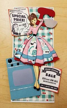 Made by Kathy Salido. Atc Cards, Card Tags, Paper Cards, Prima Paper Dolls, Prima Doll Stamps, Doll Crafts, Fun Crafts, Audrey Doll, Santoro London