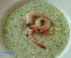 Carole's Chatter: Prawn & Broccoli Soup Broccoli And Potatoes, Broccoli Soup, Sour Cream Chicken, Cayenne Peppers, Prawn, Guacamole, Friday, Stuffed Peppers