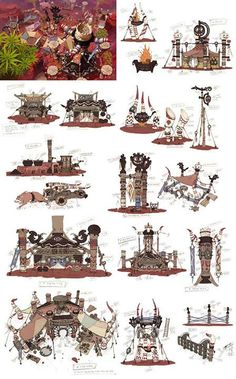"YongSub Noh Concept Art ""Goblin Village"