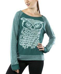 Jade Owl Burnout Sweatshirt