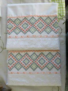 Un bello diseño para toallas.                                                                                                                                                                                 Más