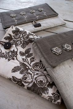 Sleeves from linen and cotton... by SandraStJu, via Flickr