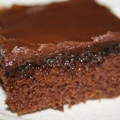 Recipe for chocolate sheet cake