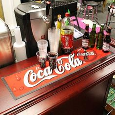 Enjoy An Ice Cold Coca Cola Without The Worry Of Condensation Marks And  Spills On Your Precious Bar Top. This Coca Cola Wetstop Bar Runner Is Made  From ...