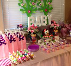 Owl baby shower candy bar