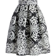 Chicwish All About Baroque Pleated Skirt ($42) ❤ liked on Polyvore featuring skirts, bottoms, black, pleated skirt, vintage skirts, cotton pleated skirt, vintage pleated skirt and box pleat skirt