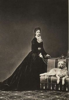 "Empress Elisabeth of Austria in 1867. ""AL"""
