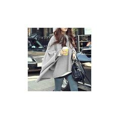 Faux Fur Trim Batwing Cape Jacket (€30) ❤ liked on Polyvore featuring outerwear, jackets, women, faux fur trim jacket, faux fur trimmed cape, cape jacket and cape coat
