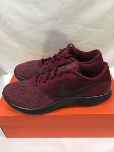 hot sale online 516f8 6d31a Mens Nike Flex Contact Running Shoes 908983-600 Size 10 Team Red    Anthracite