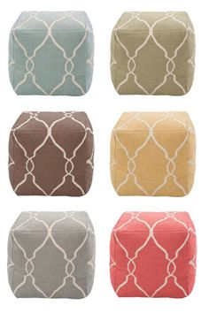I love these fantastic poufs from Target!!! Any color would look awesome with my grey couch in the living room