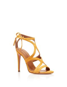 Command attention in our sophisticated and elegant Aurelie sandal. Crafted in Italy from our buttery suede in sunny amber yellow, the strapp. Charlotte Olympia, Top Shoes, Dress Shoes, Jimmy Choo, Miu Miu, Bustiers, Christian Louboutin, Luxury Shoes, Aquazzura