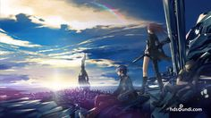Epic scene of . I dunno it just looks cool City Boy, Art Anime, Future City, Fantastic Art, Anime Scenery, Looks Cool, Illustrations Posters, Hd Wallpaper, Wallpapers