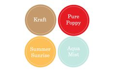 Interesting alternative exterior paint color ideas. Kraft for siding, bright white for trim, pure poppy for front door, summer sunrise for kitchen door, and aqua blue for shutters