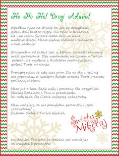 List od Świętego Mikołaja dla dzieci – spersonalizowany! Creative Activities, Baby Room, Journal, Children, Minecraft, Prints, Christmas, Young Children, Xmas