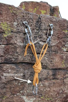 The Masterpoint, The Shelf, The Components: Anchor Anatomy in Action — The American Alpine Club Rock Climbing Workout, Rock Climbing Gear, Climbing Rope, Mountain Climbing, Mountain Biking, Rock Climbing Techniques, Climbing Quotes, Survival Gear, Wilderness Survival