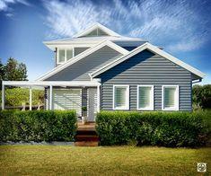 House exterior colors australia colour schemes 22 Ideas for 2019 Cladding Design, Exterior Cladding, Cladding Ideas, Design Exterior, Exterior House Colors, Exterior Paint, Style At Home, Weatherboard House, Queenslander